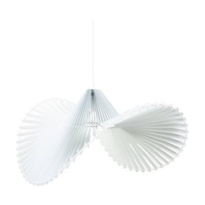 Exkluzív függesztett mennyezeti lámpa, kalap formájú, fehér - BALLERINE